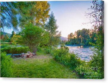 Fire And Water At Cottonwood Cottage Canvas Print