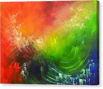 Fire And Water Canvas Print by Christopher Vidal