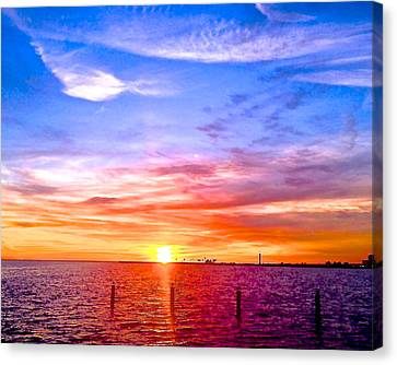 Fire And Water Canvas Print by Dee Dee  Whittle