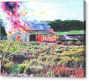 Fire At Whitney Beef Canvas Print