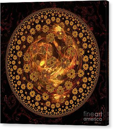 Fire Ball Filigree  Canvas Print by Elizabeth McTaggart