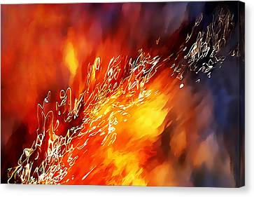 Fire Below Canvas Print by Terril Heilman