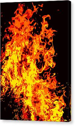 Combustion Canvas Print - Fire by Brian Stevens