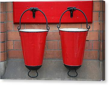 Fire Buckets Canvas Print by Mark Severn