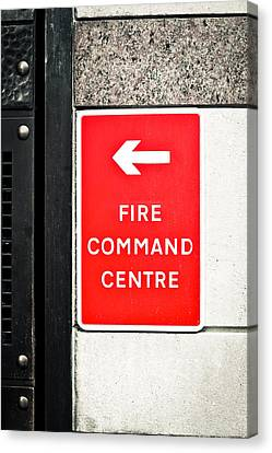 Fire Command Centre Canvas Print by Tom Gowanlock