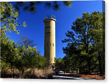 Canvas Print featuring the photograph Fct7 Fire Control Tower #7 - Observation Tower by Bill Swartwout