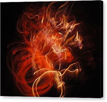 Fire Creature  Canvas Print by Kjirsten Collier