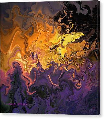 Fire Dance Canvas Print by Linda Whiteside