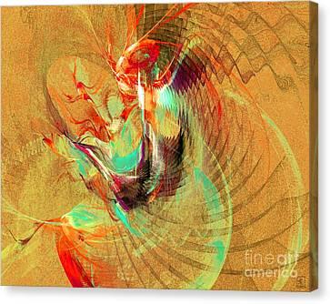 Fire Dancer Canvas Print by Jeanne Liander