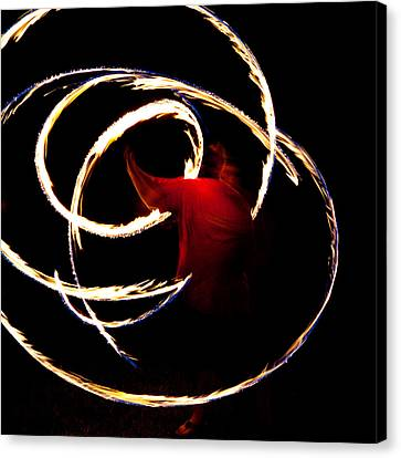 Whip-snake Canvas Print - Fire Dancer by Sennie Pierson