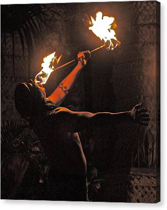 Fire Dancer Canvas Print