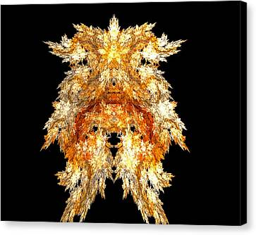 Fire Dog Canvas Print by R Thomas Brass