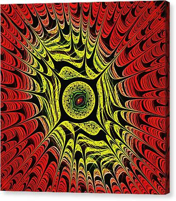 Fire Dragon Eye Canvas Print by Anastasiya Malakhova