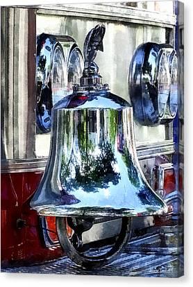 Fire Engine Bell Closeup Canvas Print