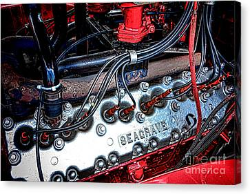 Fire Engine Engine Canvas Print by Olivier Le Queinec