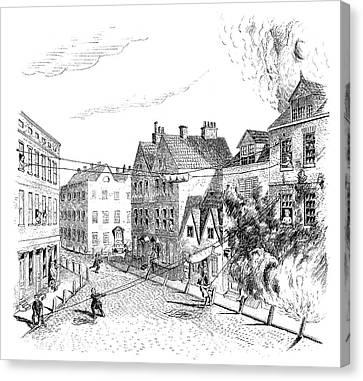 Fire Escape, 1767 Canvas Print
