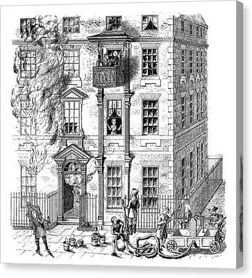 Fire Escape, 1791 Canvas Print