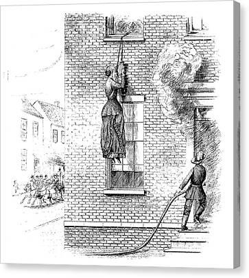 Fire Escape, 1884 Canvas Print