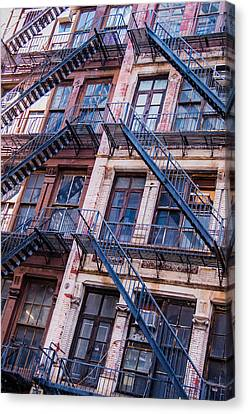 Canvas Print featuring the photograph Fire Escape by Chris McKenna