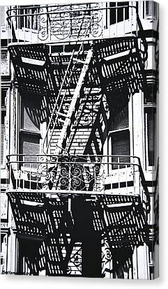 Fire Escape Canvas Print by Larry Butterworth