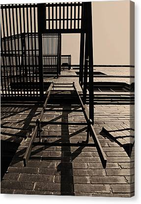 Fire Escape Canvas Print - Fire Escape Sepia by Don Spenner