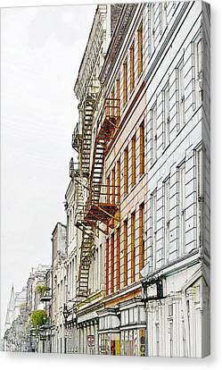 Fire Escapes New Orleans Canvas Print by Christine Till