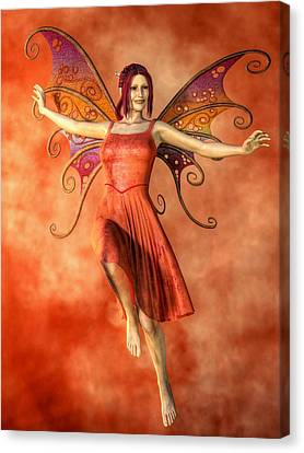 Fire Fairy Canvas Print by Kaylee Mason