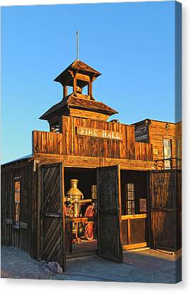 Fire Hall Calico Ghost Town Canvas Print by Michael Hope