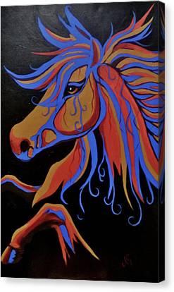 Fire Horse Canvas Print by Anne Gardner