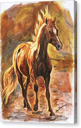 Fire Horse Canvas Print by Jana Goode