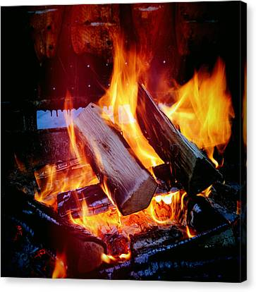 Fire - Hot And Orange Canvas Print