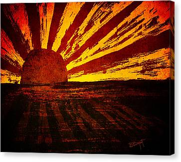 Fire In The Sky Canvas Print by Brenda Bryant