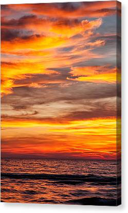 Fire In The Sky Canvas Print by Brian Boudreau