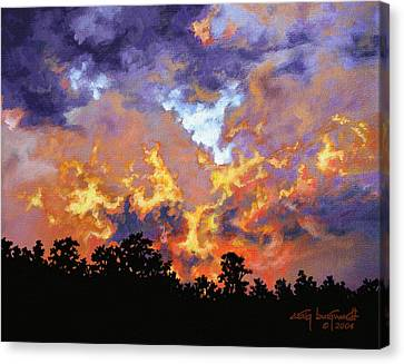 Fire In The Sky Canvas Print by Craig T Burgwardt