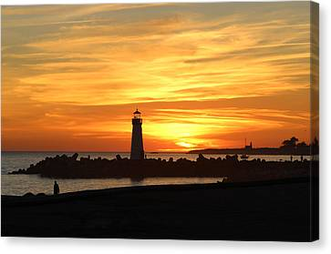 Fire In The Sky Canvas Print by Deana Glenz