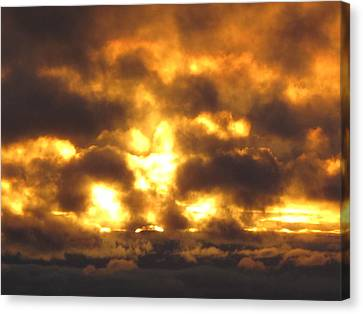Fire In The Sky Canvas Print by Donnie Freeman