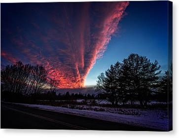 Fire In The Sky Canvas Print by Jerry Mattice