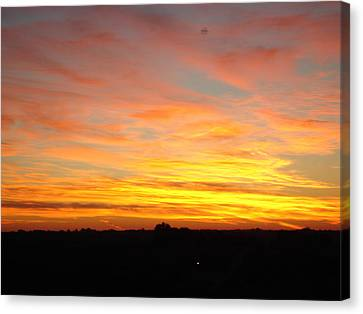 Canvas Print featuring the painting Fire In The Sky by J L Zarek