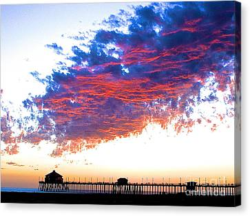 Fire In The Sky Canvas Print by Margie Amberge