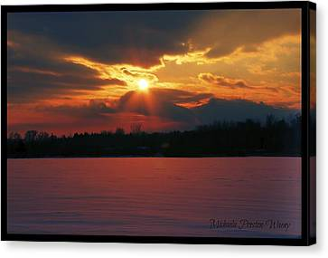 Canvas Print featuring the photograph Fire In The Sky by Michaela Preston