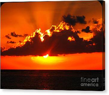 Fire In The Sky Canvas Print by Patti Whitten