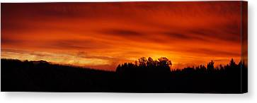 Fire In The Sky Canvas Print by Stan Angel