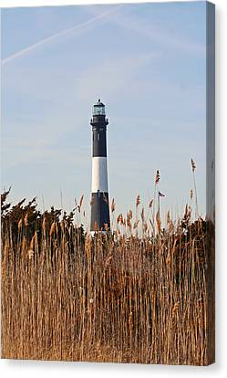 Canvas Print featuring the photograph Fire Island Tower by Karen Silvestri