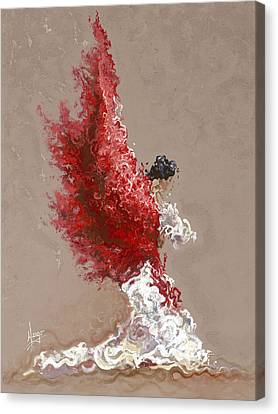 Figurative Canvas Print - Fire by Karina Llergo