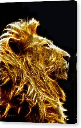 Fire Lion Canvas Print by Michael Durst