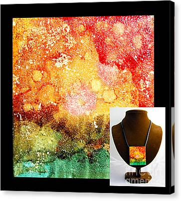 Fire Necklace Canvas Print by Alene Sirott-Cope