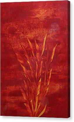 Canvas Print featuring the painting Fire by Nico Bielow