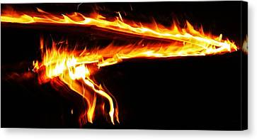 Canvas Print featuring the photograph Fire On High... by Al Fritz