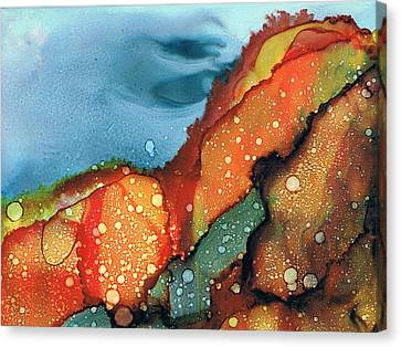 Fire On The Mountain Canvas Print by Christine Crawford