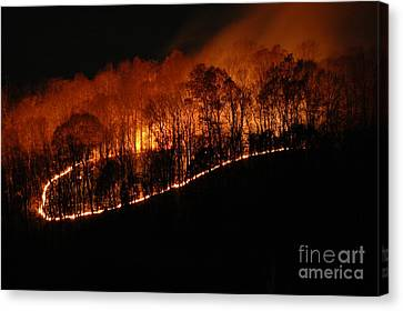 Fire On The Mountain Canvas Print by Steven Townsend